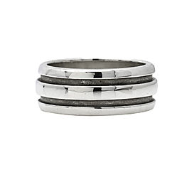 Tiffany & Co. Groove Band Wide Ring in Sterling Silver Size 8.5