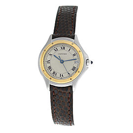 Ladies Cartier Panthere 187906 Steel Gold Date 26MM Quartz Watch