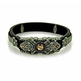 Stephen Webster Sterling Black Rhodium Rose Gold Leather Bracelet Rt. $795