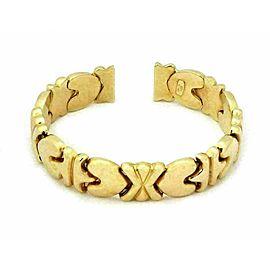Hearts X Design 13mm Wide Flex 14k Yellow Gold Cuff Bracelet