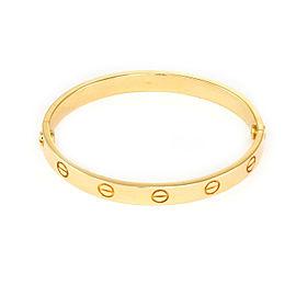Cartier Love 18k Yellow Gold Screw Motif Bangle w/Cert Size 16