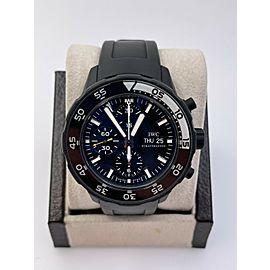 IWC IW376705 Aquatimer Galapagos Chronograph Automatic Black Dial Box Paper