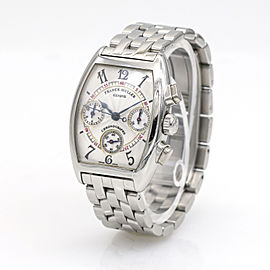 Franck Muller Cintree Curvex Chronograph Ladies Stainless Steel Watch 7502 CC
