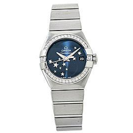 Omega Constellation Star 123.15.27.20.03.001 Blue Diamond Lady's Watch 28mm