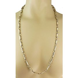 Fancy Bar Link Convertible Necklace Bracelet 14k Two Tone Gold Set