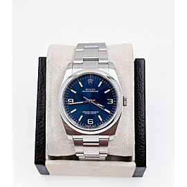 Rolex Oyster Perpetual 116000 Blue Dial Stainless Steel Box Papers 2017