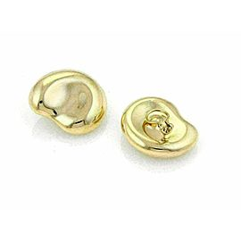 Tiffany & Co. Peretti 18k Yellow Gold Large Bean Clip On Earrings