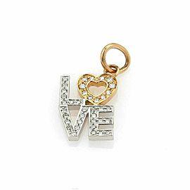 Tiffany & Co. Diamond Love 18k White & Rose Gold Charm Rt. $1,700