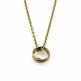Cartier Trinity 18k Tri-Color Gold Ring Pendant and Chain