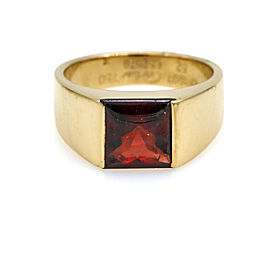 Cartier Tank Ring with Garnet in 18k Yellow Gold Size 52
