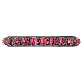 David Yurman 3mm Cable Berries Rhodolite Garnet & Sterling Silver Band Ring # 40