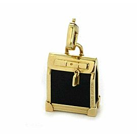 Louis Vuitton Steamer Bag 18k Yellow Gold Onyx Charm Pendant
