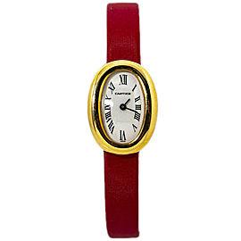 Cartier Baignoire Mini 2368 18K Yellow Gold Quartz Lady's Watch 18mm