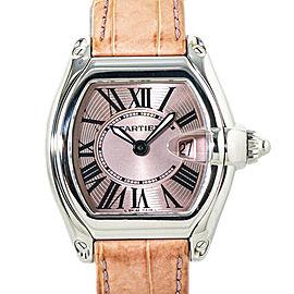 Cartier Roadster 2675 Pink Dial Quartz Ladies Watch 32mm