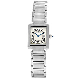 Cartier Tank Francaise 2384 Ladies Stainless Steel Quartz 20MM Watch