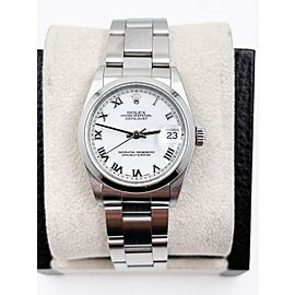 Rolex Datejust Midsize 68240 White Roman Dial 31mm Stainless Steel Box Papers