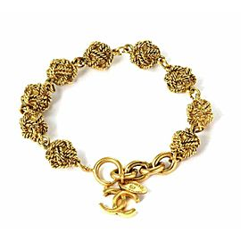 Chanel Fashion Gold Tone 8 Cable Wire Knot Links Chain Bracelet