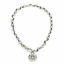John Hardy Kali Pebble Sterling Silver Oval Round Chain Link Necklace