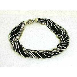 Tiffany & Co. Two Tone Sterling Silver Twisted Multi Chain Necklace
