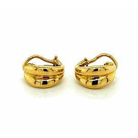 Tiffany & Co. 18k Yellow Gold Leaf Shape Huggie Earrings