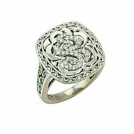 Tacori Diamond 18k White Gold Swirl Open Design Ring