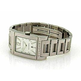 Bulgari Rettangolo Automatic Stainless Steel Date Watch Rt.$3,700