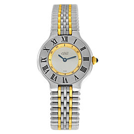 Cartier Must de Cartier 1340 Ladies Steel Gold 28MM Bullet Quartz Watch