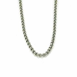 Chopard 18k White Gold Round Link Chain Necklace