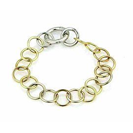 Pomellato Lucciole Diamond Circle 18k Tri Gold Link Bracelet Rt. $4,900