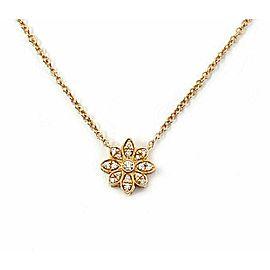 Tiffany & Co. Enchant Diamond 18k Rose Gold Flower Pendant Necklace