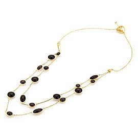 Roberto Coin Diamond & Enamel Double Strand 18k Gold Drape Necklace