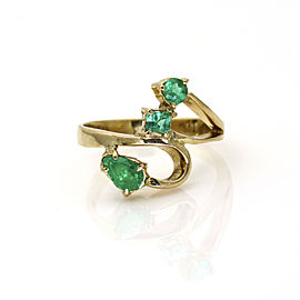 Women's Emerald Freeform Ring in 18k Yellow Gold