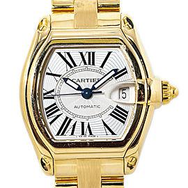 Cartier Roadster Large W62005V1 Box & Paper 18K Gold Men's Watch 37mm