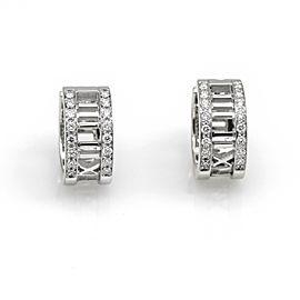 Tiffany & Co. Diamond Atlas Hoop Earrnigs