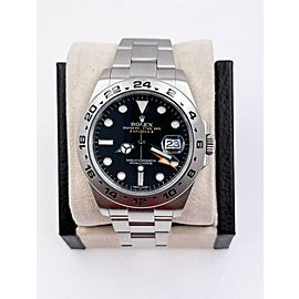Rolex Explorer II 216570 Black Dial Stainless Steel Box Papers 2012