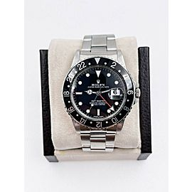 Rolex GMT Master 16750 Black Dial Stainless Steel Box Service Paper 2021