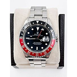 Rolex 16710 GMT Master II Coke Red and Black Stainless Steel UNPOLISHED