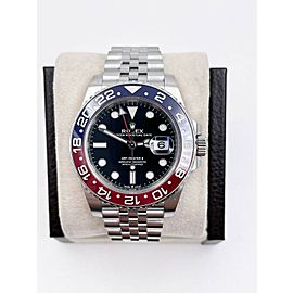 Rolex GMT Master II Pepsi Red Blue 126710BLRO Stainless Steel Box Papers 2019