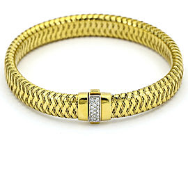Roberto Coin Primavera Woven Diamond Bracelet in 18k Yellow Gold Large