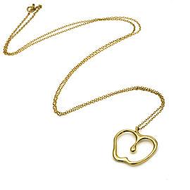 "Tiffany & Co. Elsa Peretti Large Apple Pendant Necklace 18k Yellow Gold 30"" Long"