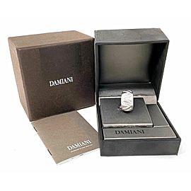 Damiani Diamonds 18k White Gold 12.5mm Wide Dome Band Ring
