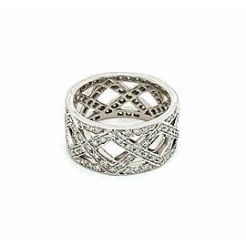 Tiffany & Co Legacy Celebration Diamond Platinum Lattice Band Ring
