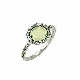 Pomellato Peridot Diamond 18k White Gold Ring