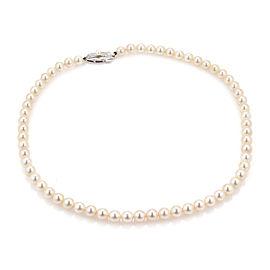 Mikimoto 7mm Akoya Pearls Silver Single Strand Necklace