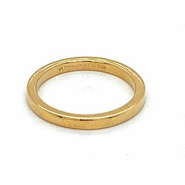 Tiffany & Co. Novo 18k Yellow Gold 2mm Wide Band Ring