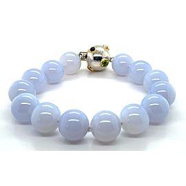 Tiffany & Co. Etoile Color Gems 18k Gold & Sterling Chalcedony Beaded Bracelet