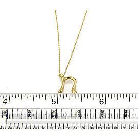"Tiffany & Co. Elsa Peretti Initial ""n"" 18k Yellow Gold Pendant Necklace"
