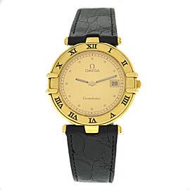 Omega Constellation 196.0360 Unisex Solid 18K Yellow Gold Date Quartz 32MM Watch