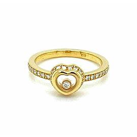 Chopard Happy Diamond 18k Yellow Gold Heart Ring w/Cert