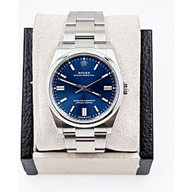 BRAND NEW Rolex Oyster Perpetual 126000 Blue Dial Stainless Steel Box Paper 2021
